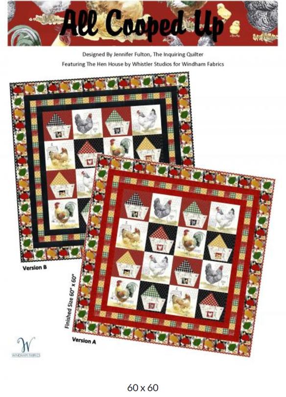 Free Pattern:  All Cooped Up | The Hen House for Windham Fabrics