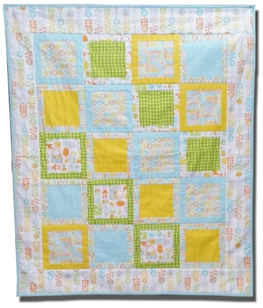 Play Penned In Quilt Kit featuring Moda Baby Bump fabric