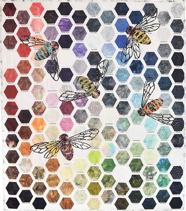 Free Pattern:  Hoffman Digital Prints:  ALL THAT BUZZ pattern