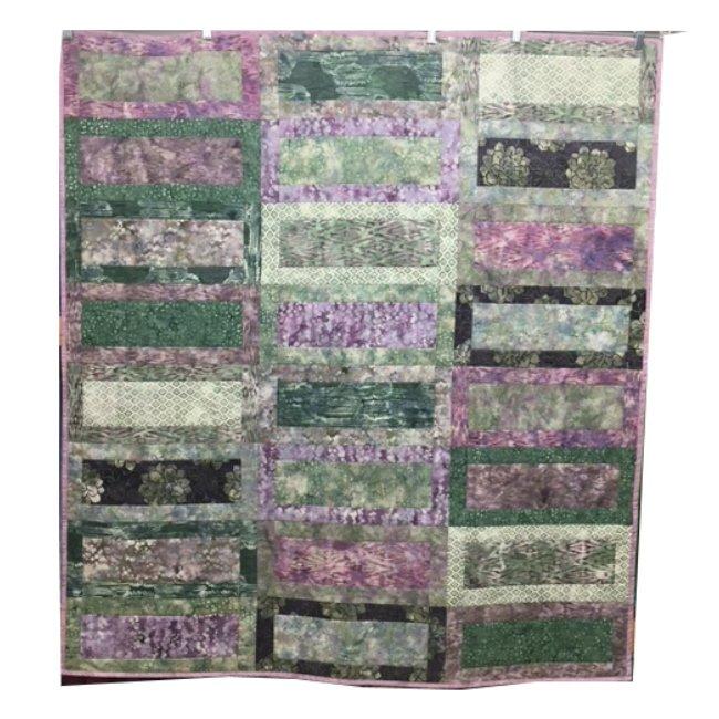 Quilt / Wall Art for Sale: Amethyst Batik 50x56
