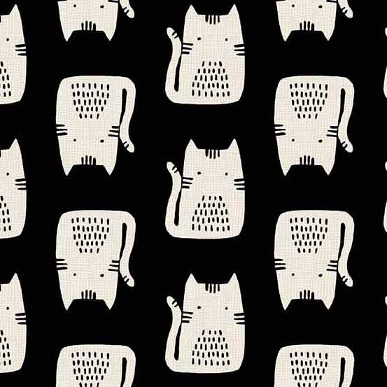 Andover | Cats and Dogs by Sarah Golden A8966-K Black Cats