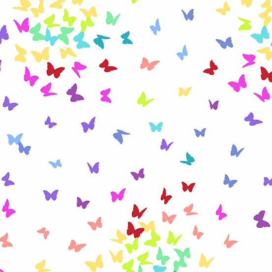Andover RAINBOW SPRINKLES 9425-L Butterflies Light