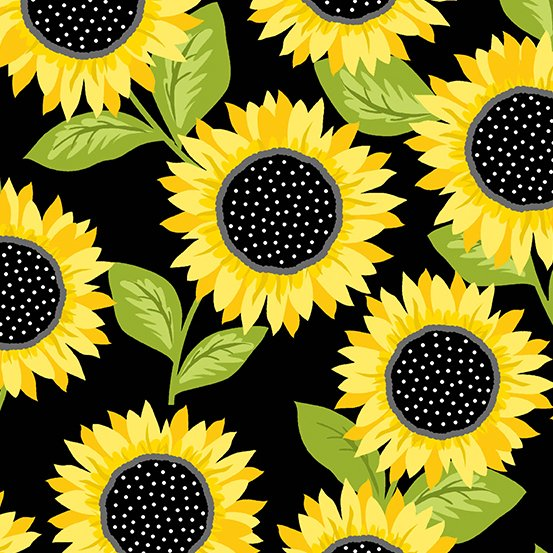Andover Sunny Bee 9431 K Sunflower Black