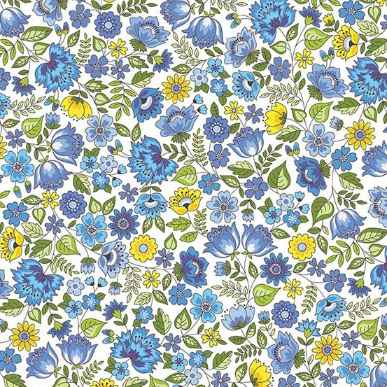 Andover - Bloom : Blue Chintz TP-2031-B