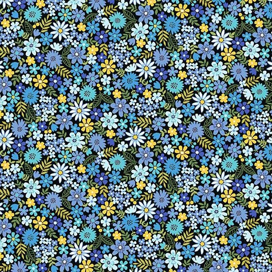 Andover - Bloom : Blue Packed Flowers TP-2034-B