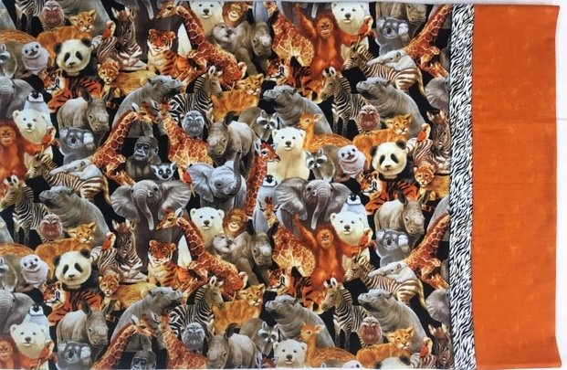 Sample For Sale:  Animal Kingdom Pillowcase 20 x 30