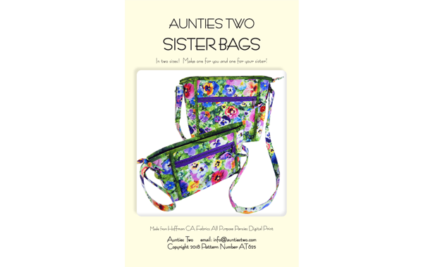 Aunties Two: Sister Bags Pattern - Makes two sizes