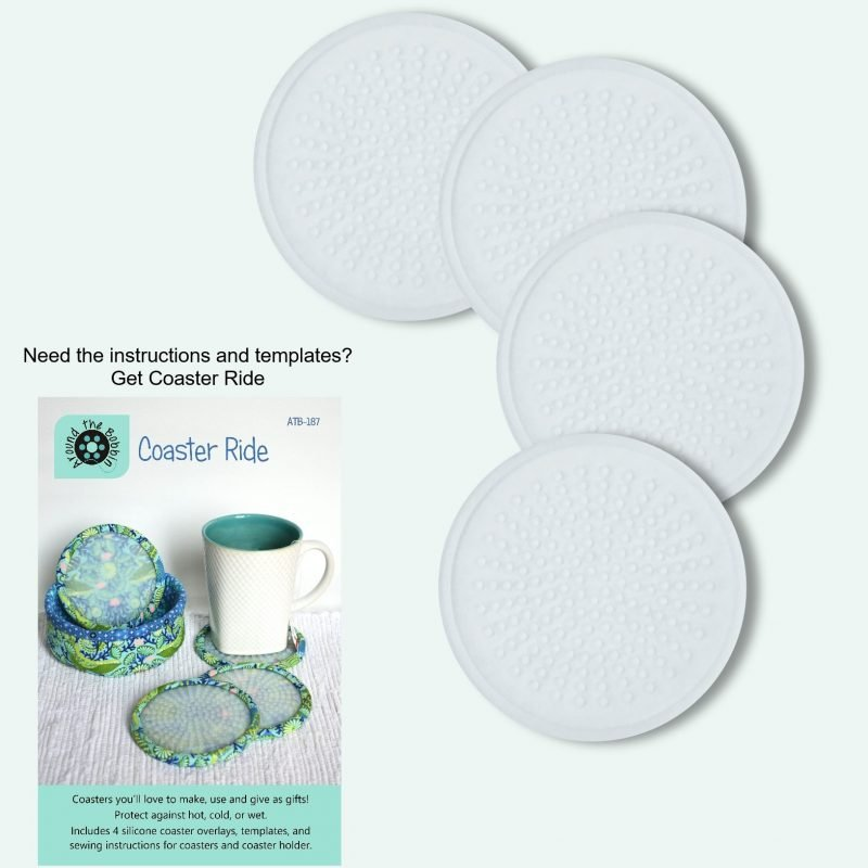Coaster Ride: 4 Silicone Refills (no patttern) from Around The Bobbin