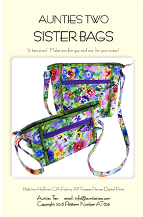 Aunties Two Patterns: Sister Bags Pattern - Makes two sizes