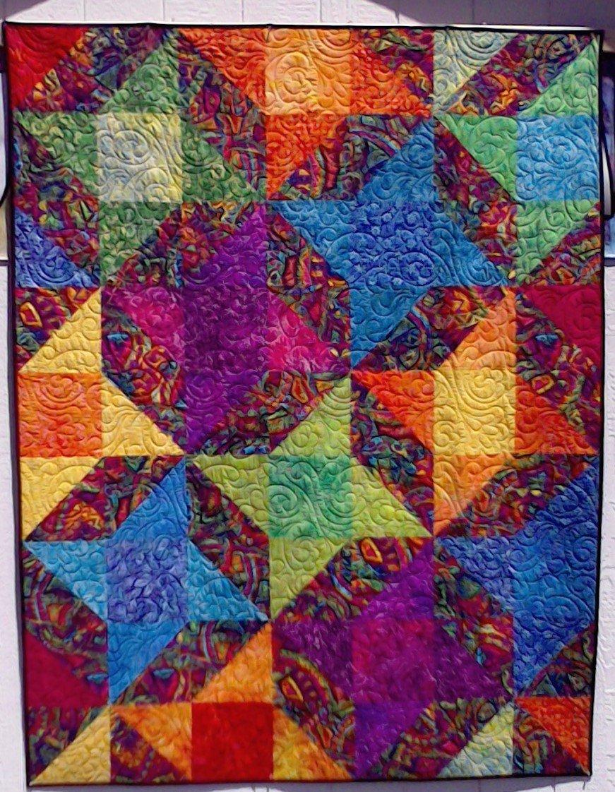 Quilt For Sale:  Bolds & Batiks