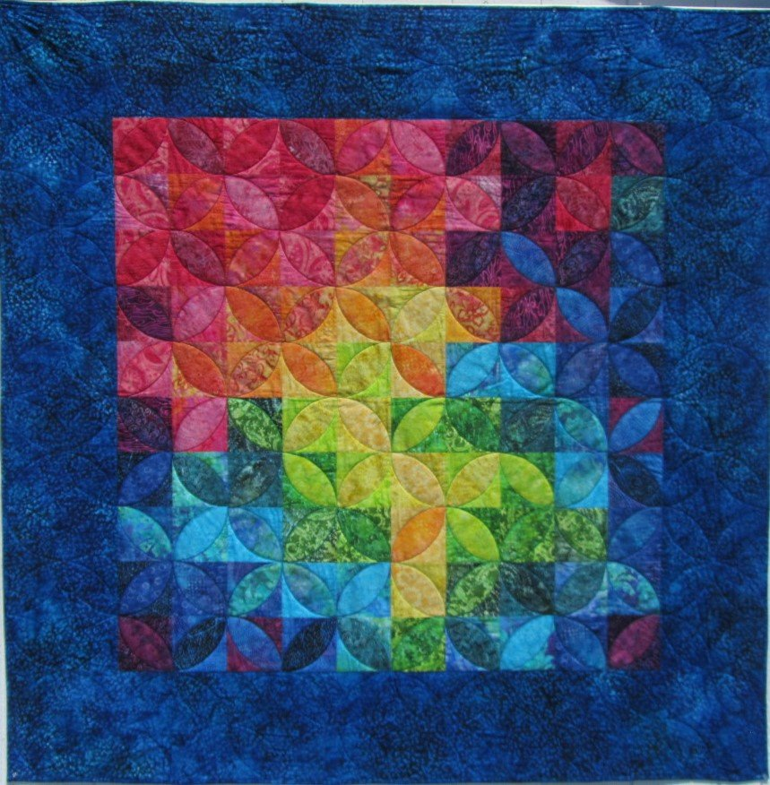 Quilt for sale: Bali Circles 69X69