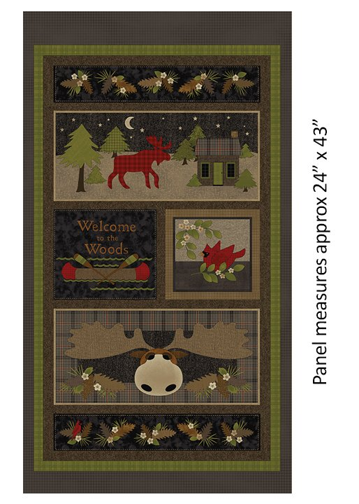 Another Moose Is Loose - Benartex PANEL 0961099B