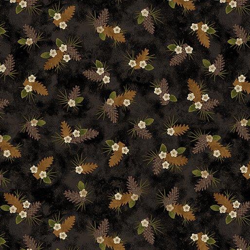 Another Moose Is Loose - Benartex 0961212B Pine Bough Black