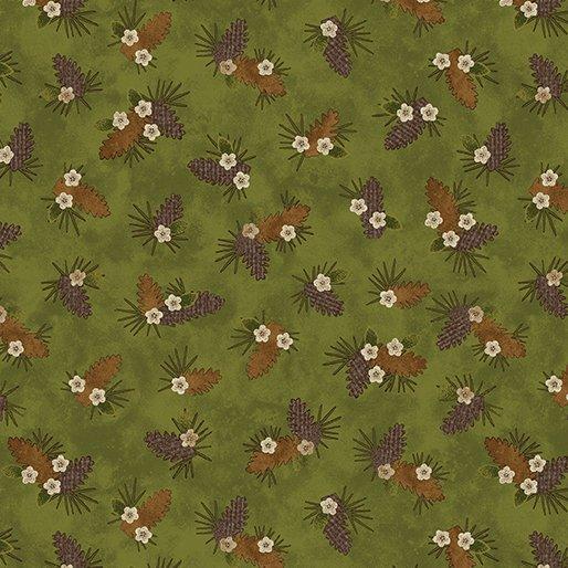 Another Moose Is Loose - Benartex 0961244B Pine Bough Green