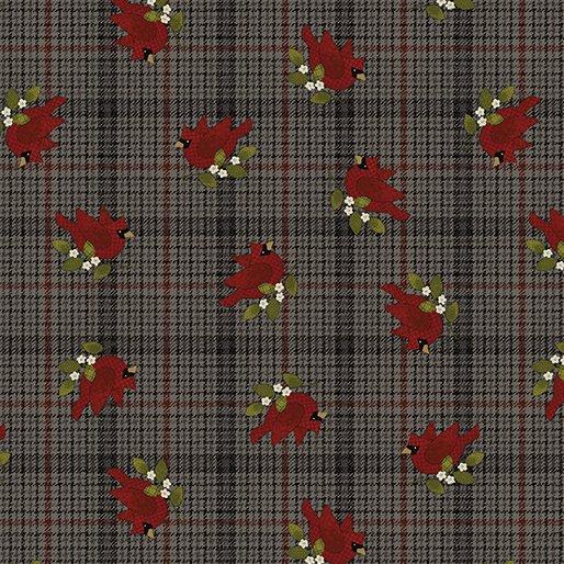 Another Moose Is Loose - Benartex 0961779B Cardinal w/Plaid - Espresso