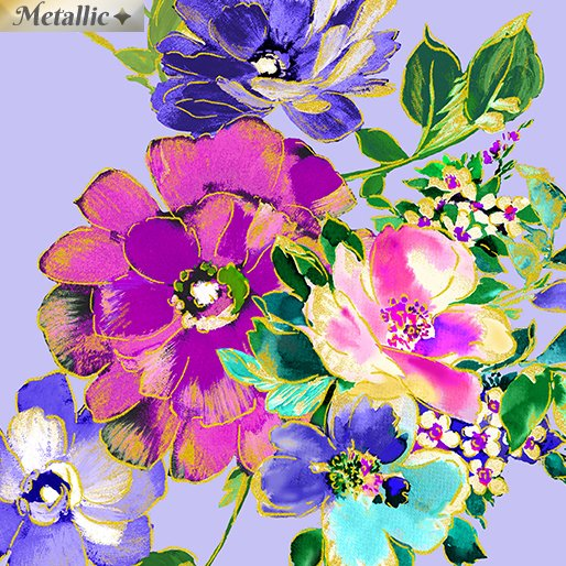 Kanvas - Watercolor Wishes 7943M 05 Bouquet Wishes Light Periwinkle - Metallic