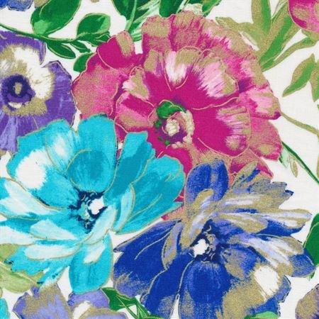 Kanvas - Watercolor Wishes 7944M 09 In Full Bloom White - Metallic