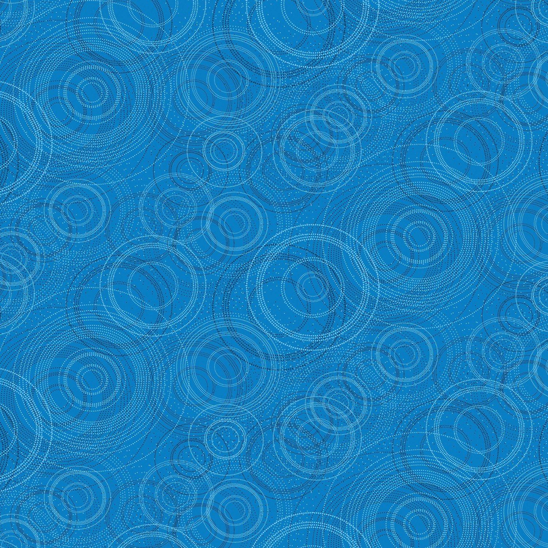 Kanvas - Pearl Reflections 8464P 54 Beaded Circle - Medium Peacock Blue