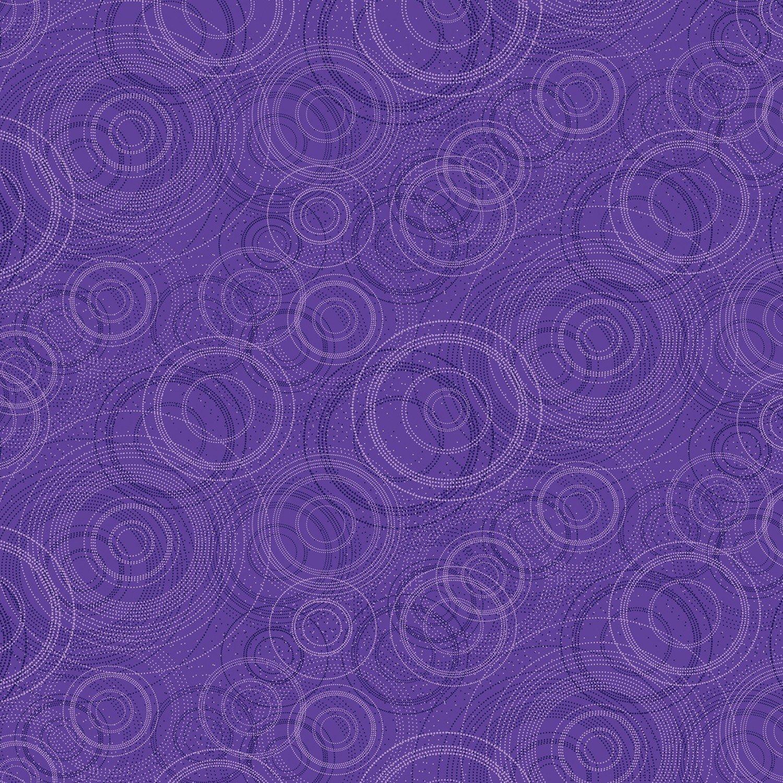 Kanvas - Pearl Reflections 8464P 66 Beaded Circle - Dark Purple