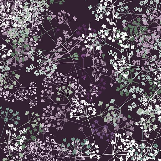 Benartex - Essence of Pearl | Queen Anns Lace Purple 8730P 66