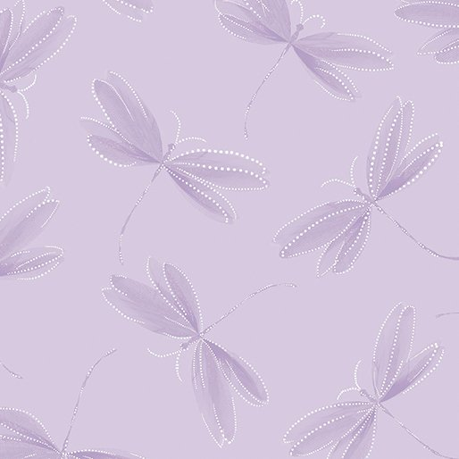 Benartex - Essence of Pearl | Dragonfly Silhouette Lilac 8731P 06