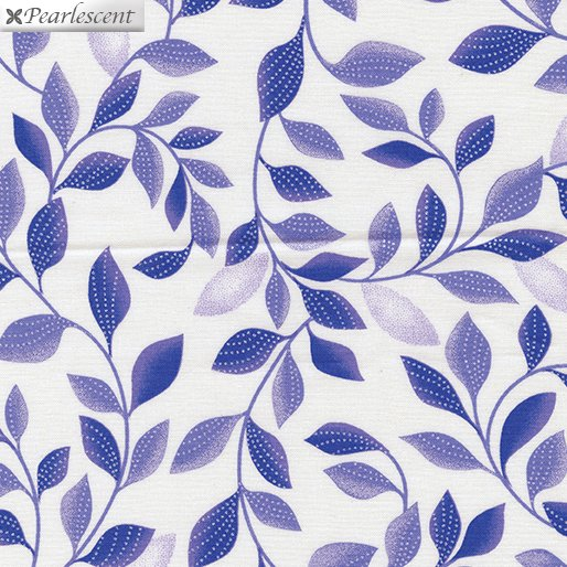 Kanvas - Pearl Reflections 8806P 06 Shimmer Leaves - White/Purple