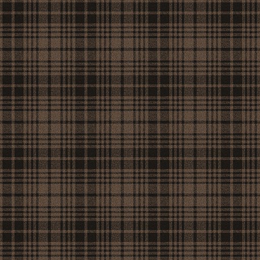 Another Moose Is Loose - 9615 77 Wool Look Plaid Brown by Benartex