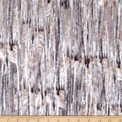 Into The Woods Flannel - Taupe Winter Birch Flannel 8490F 07