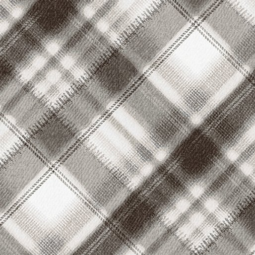 Into The Woods Flannel - Soft Grey Plaid Flannel - 8491F 11
