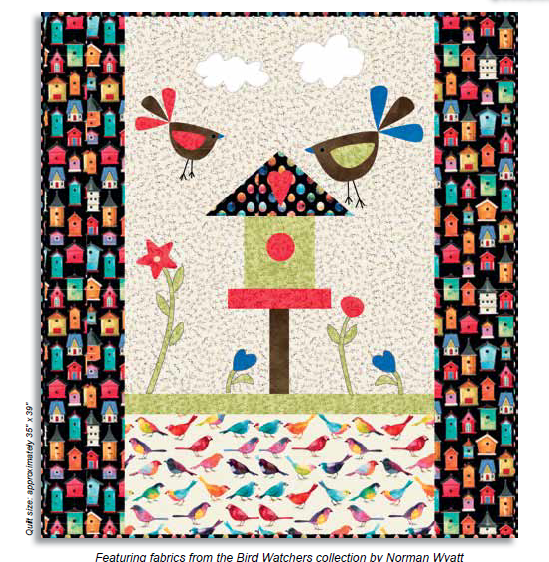 Free Pattern: Bird Watchers - Pecking Order Quilt by P&B Fabrics