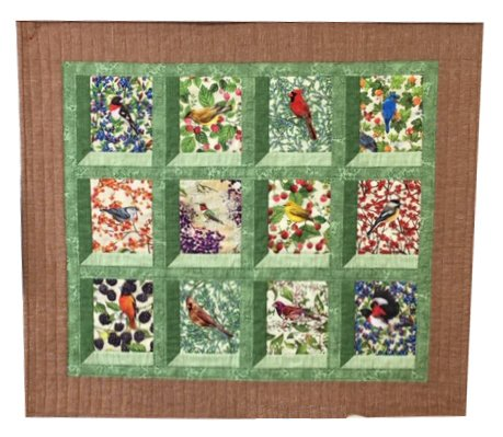 The Fabric Garden-Birds Eye View - Wall Hanging Pattern
