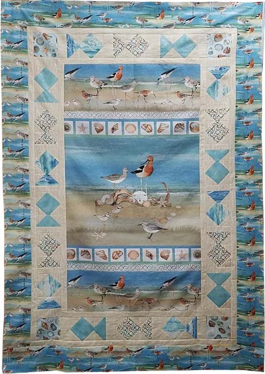 Shore Birds PANEL Quilt Kit featuring Shore Thing fabrics