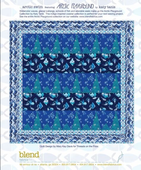 Free Pattern: Arctic Swim featuring Arctic Playground by Katy Tanis for Blend Fabrics