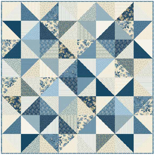 Free Pattern:  Blue Sky  Stargazer Quilt by Andover and Laundry Basket Quilts