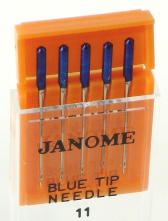 Janome Needles - Blue Tip #11 - Pack of 5 Needles