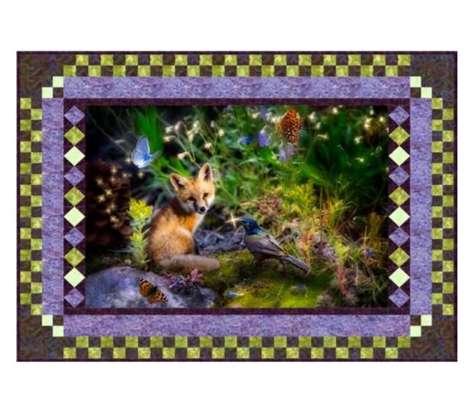 Free Pattern:  Hoffman Digital Prints: Born To Be Free