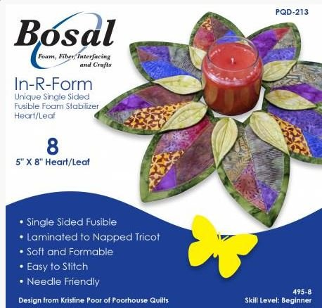 Bosal In-R-Foam 5 x 8 Heart / Leaf Fusible Foam