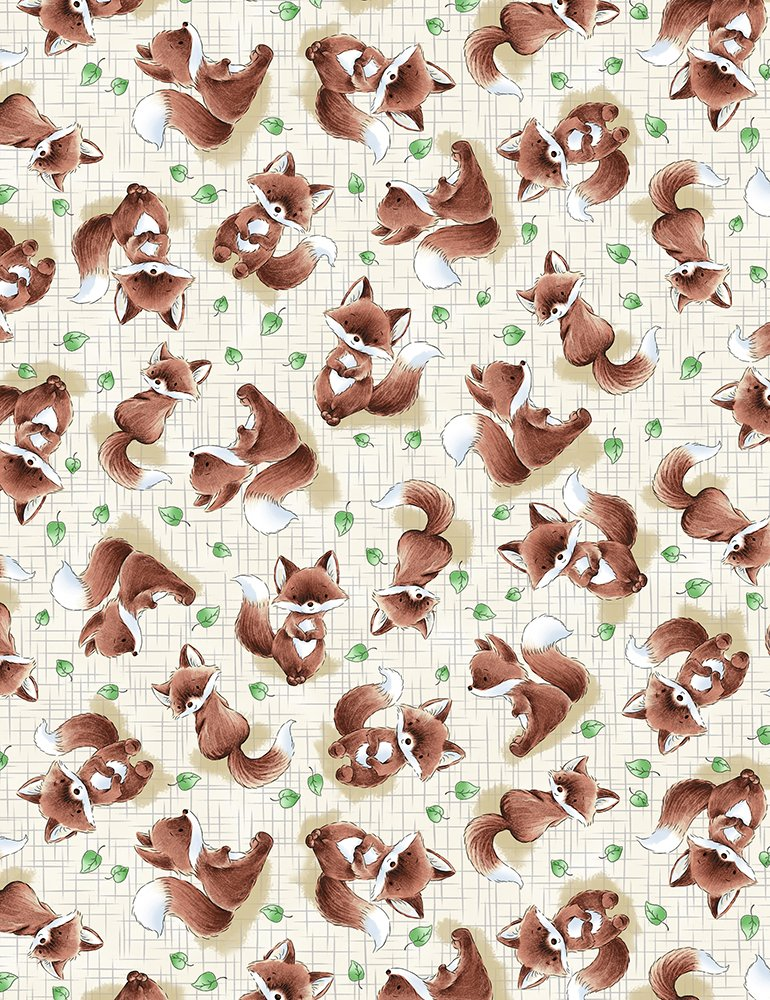 Camp Cricket by Bunnies By The Bay C6722 Taupe - Tossed Fox