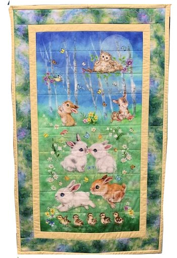 Bunny Meadows Childrens Quilt Kit