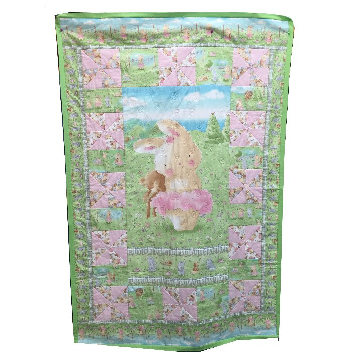 Friendship Blossoms / Bunny Tutu Quilt Kit featuring fabrics by Bunnies By The Bay