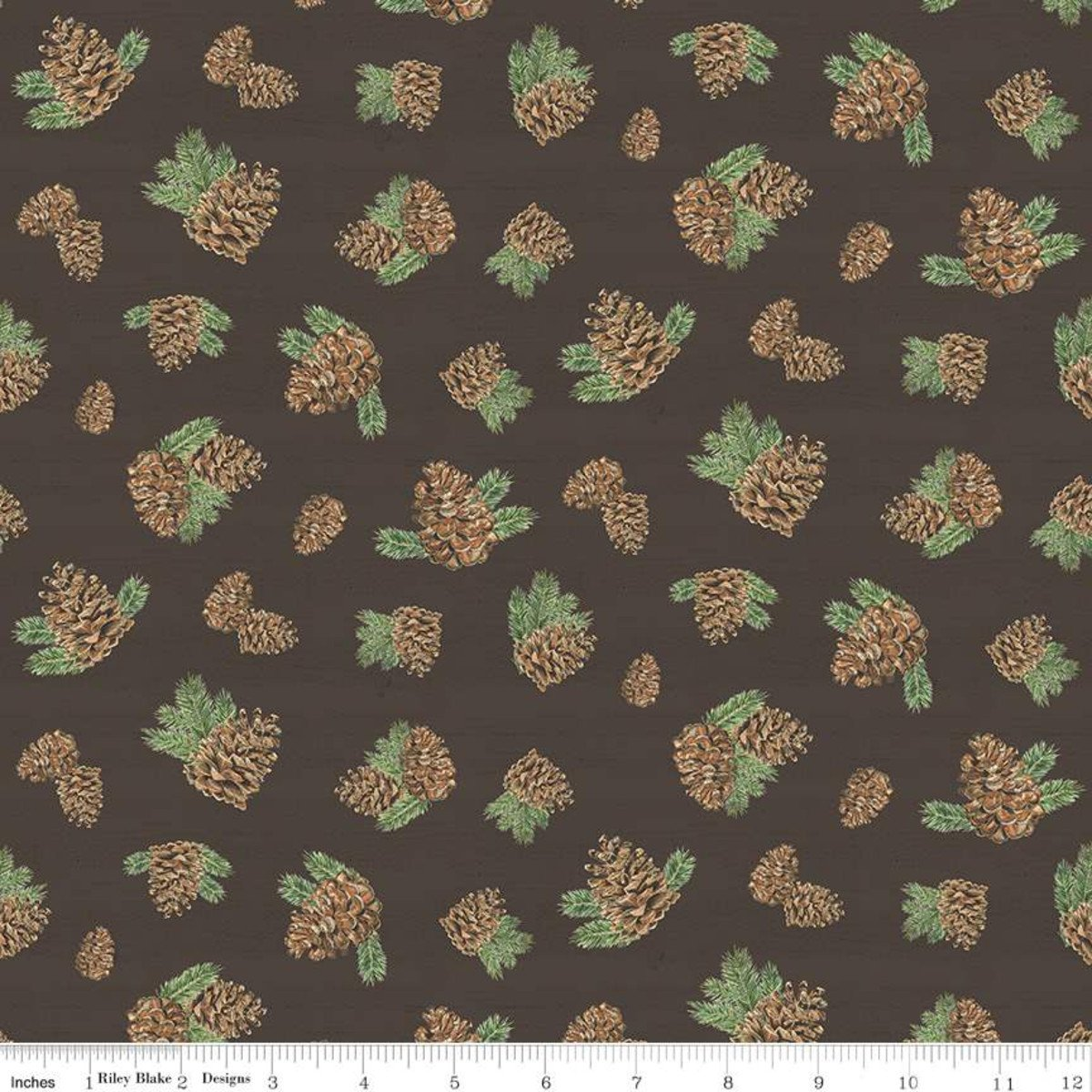 Send Me To The Woods C9274R Pinecones by Riley Blake