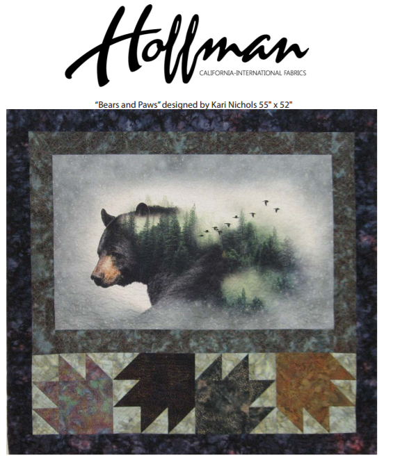 Free Pattern:  Hoffman Digital Prints: Bears and Paws