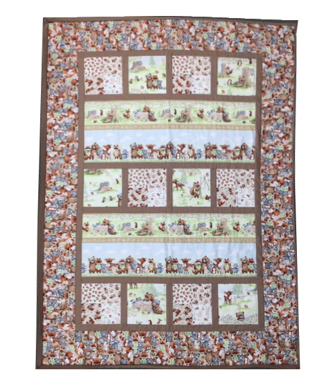 Camp Cricket Quilt Kit - 39 x 54 featuring Camp Cricket fabrics
