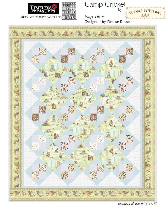 Free Pattern:  Nap Time featuring Camp Cricket by Bunnies By The Bay