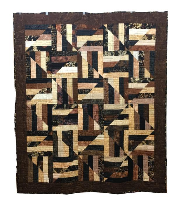 Batik Cappucino Quilt For Sale: 54x60