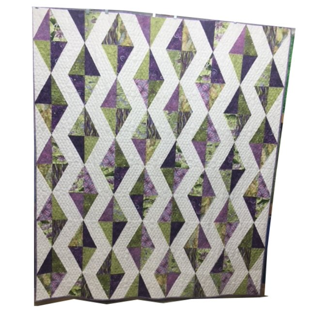 Quilt for Sale: Cascading Diamonds featuring Dragonfly Dance fabrics