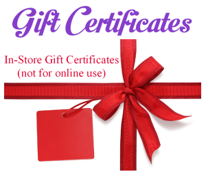 Gift Certificate for use at The Fabric Garden - In-Store Use Only  (Free Shipping!)