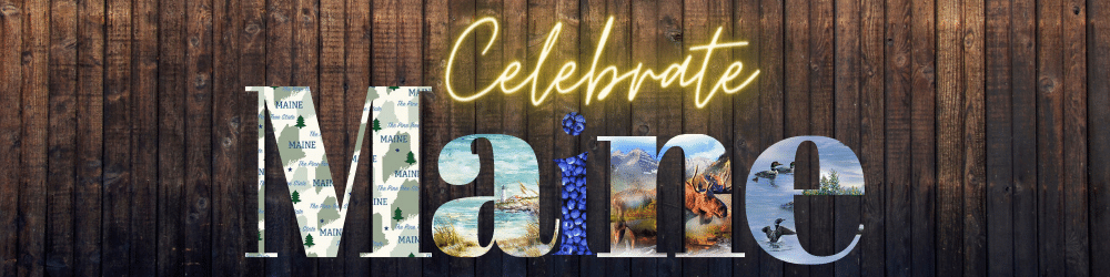 celebrate maine!  Maine fabrics quilts and project kits