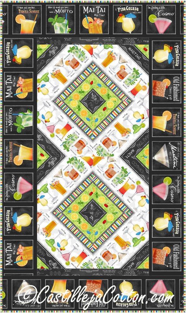Cheers Runner Quilt Pattern - Lap Quilt 25 x 43