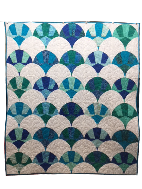 Chic Shells Quilt Kit - 65 x 78 - includes pattern and Batik Fabrics